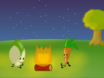 Pistachio's and Carrot's mini Campfire (Animation) by kitkatyj