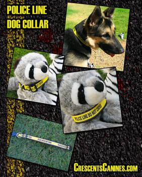 Police Line Dog Collar