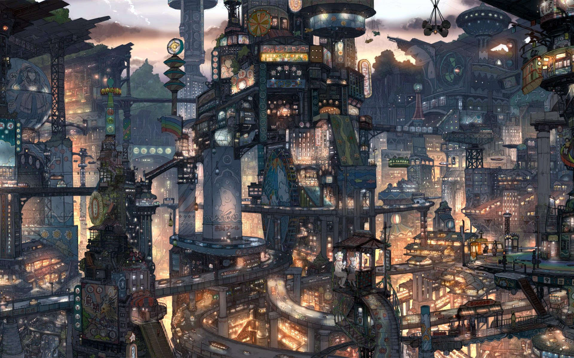 anime city win7 theme by saturdaysx on deviantart