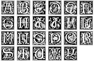 16th Century Alphabet + font
