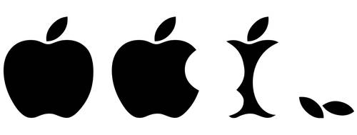 Eaten Apple Logo Funny Vector by vuvuzelahero