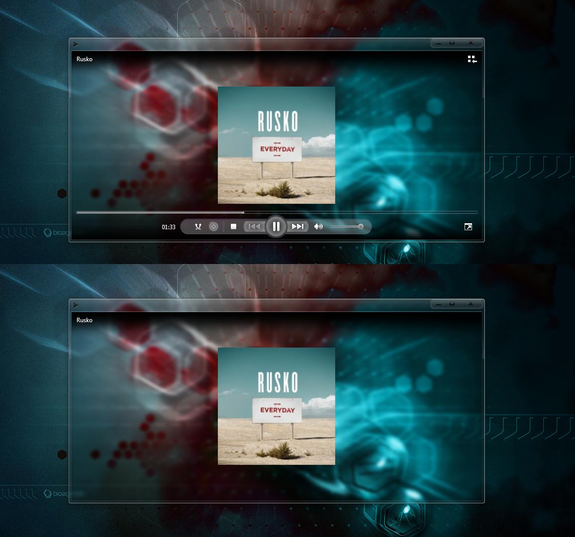 Skins for windows media player 12