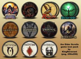 The Elder Scrolls series icons by KingReverant