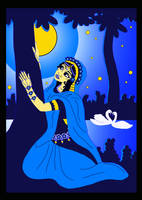 GIF  Shrimati Radharani searching for Shri Krishna by Mohinipriya