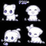 F2U little kittens base by Daniela-Arts