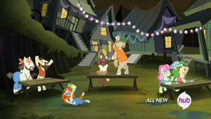 Swamp Ponies (animated GIF) by CorpulentBrony
