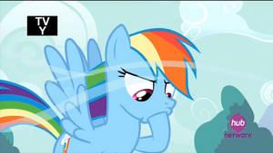 Rainbow Licks Hoof (animated GIF) by CorpulentBrony