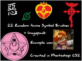 Invidia's Anime Symbol Brushes by Invidia8