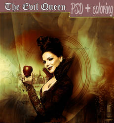 The Evil Queen | PSD + Coloring
