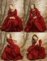 red dress set 1 by magikstock