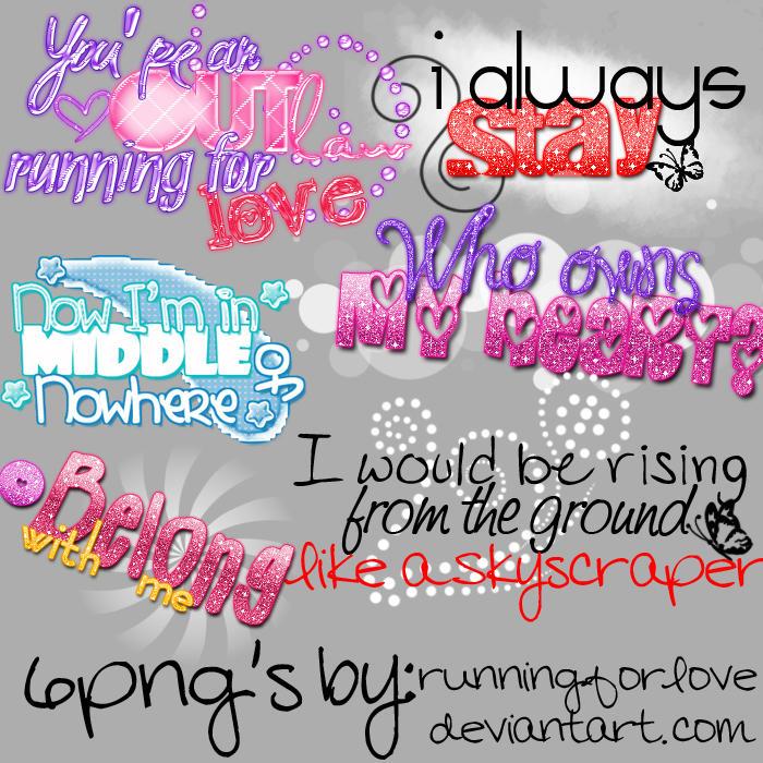6png songs by Runningforlove