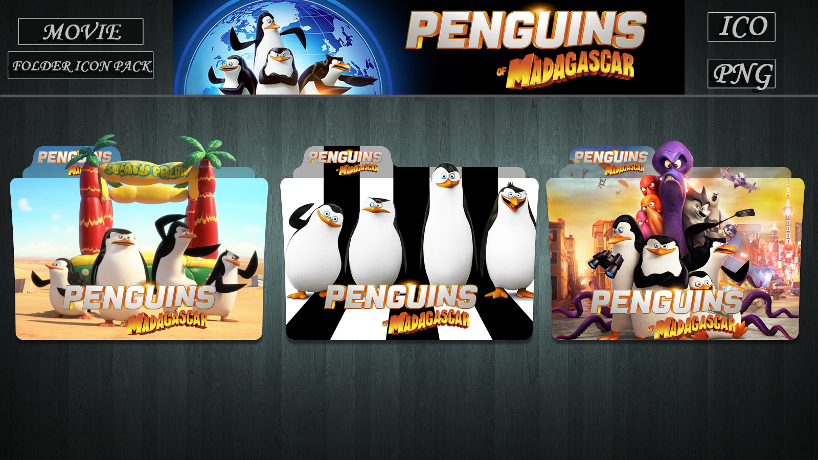 Penguins Of Madagascar 2014 Folder Icon Pack By Zsotti60 On Deviantart