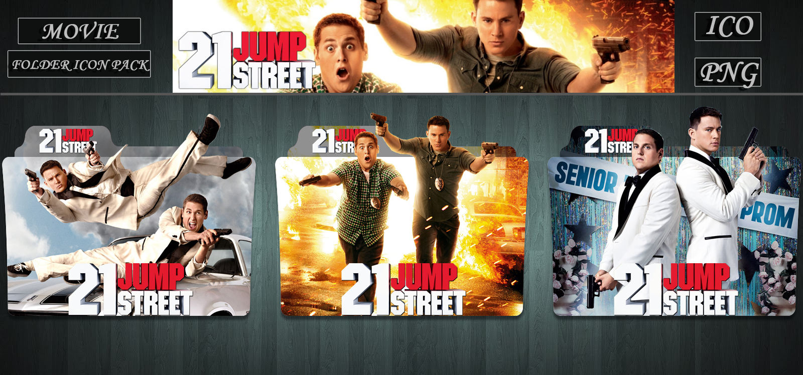21 Jump Street 2012 Folder Icon Pack By Zsotti60 On Deviantart