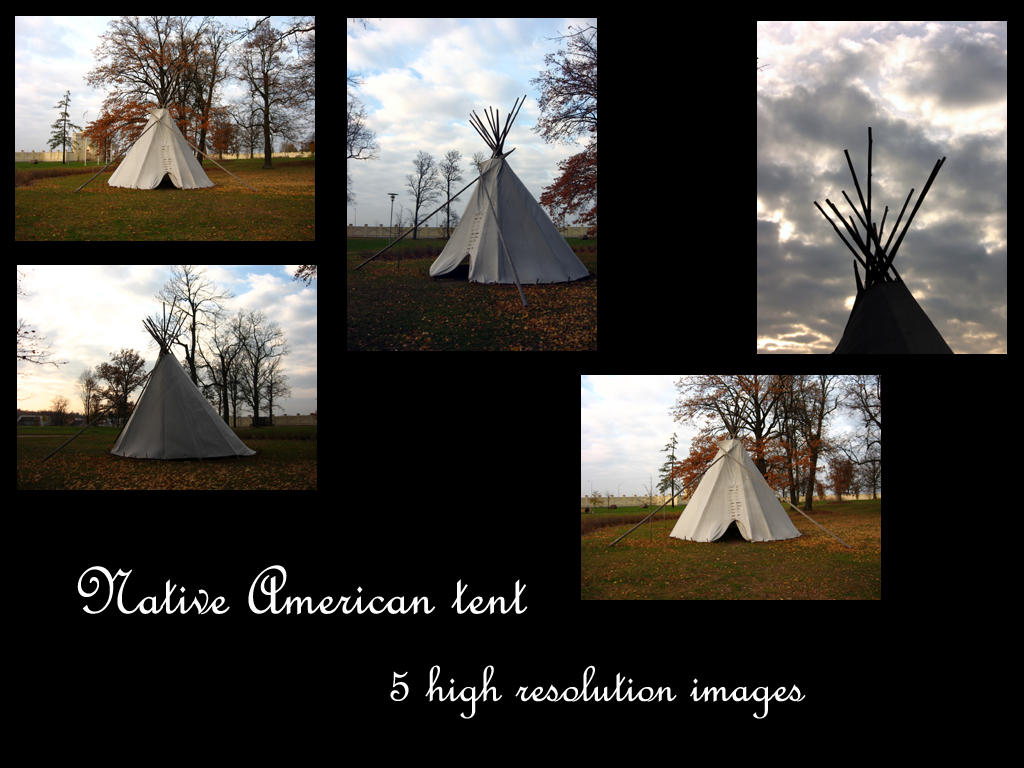 Native American tent stock by Mithgariel-stock