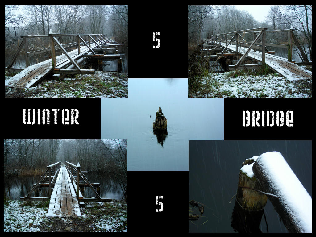Winter bridge stock pack by Mithgariel-stock