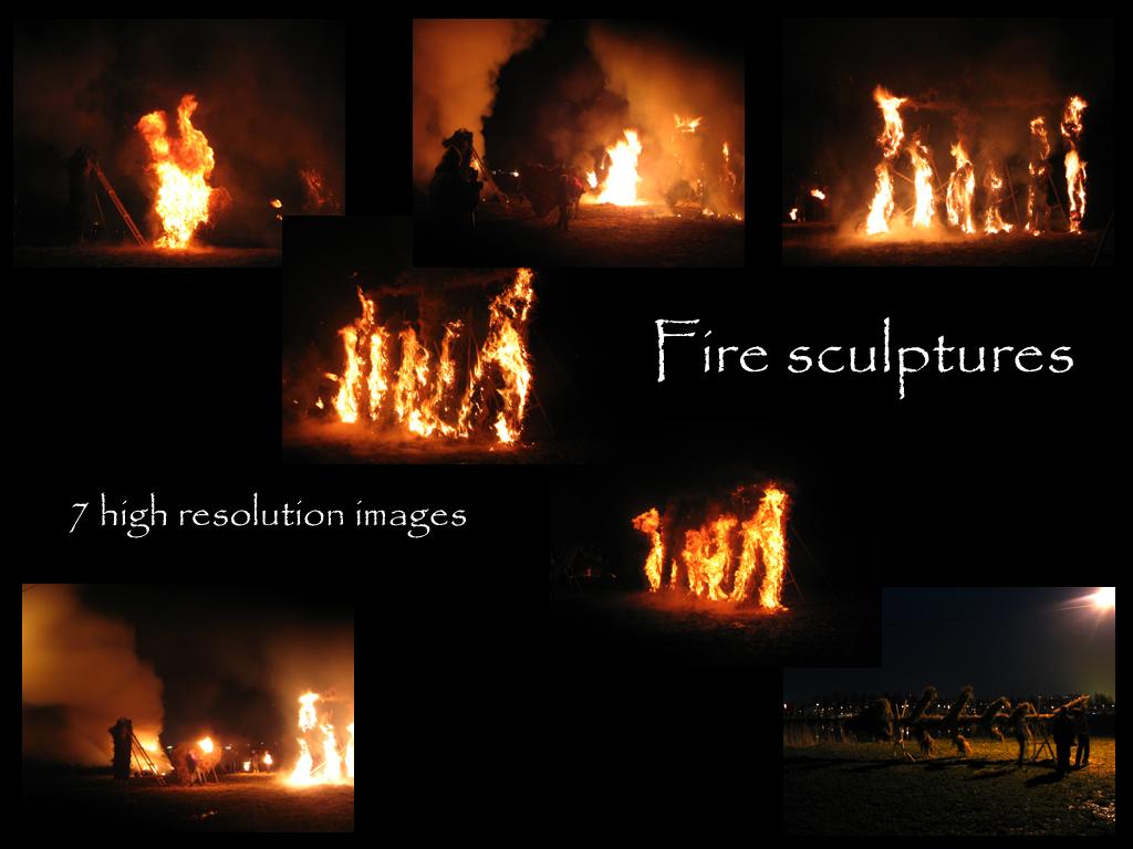 Fire sculptures 1