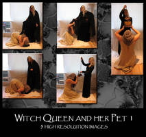 Witch Queen and her Pet 1 by Mithgariel-stock