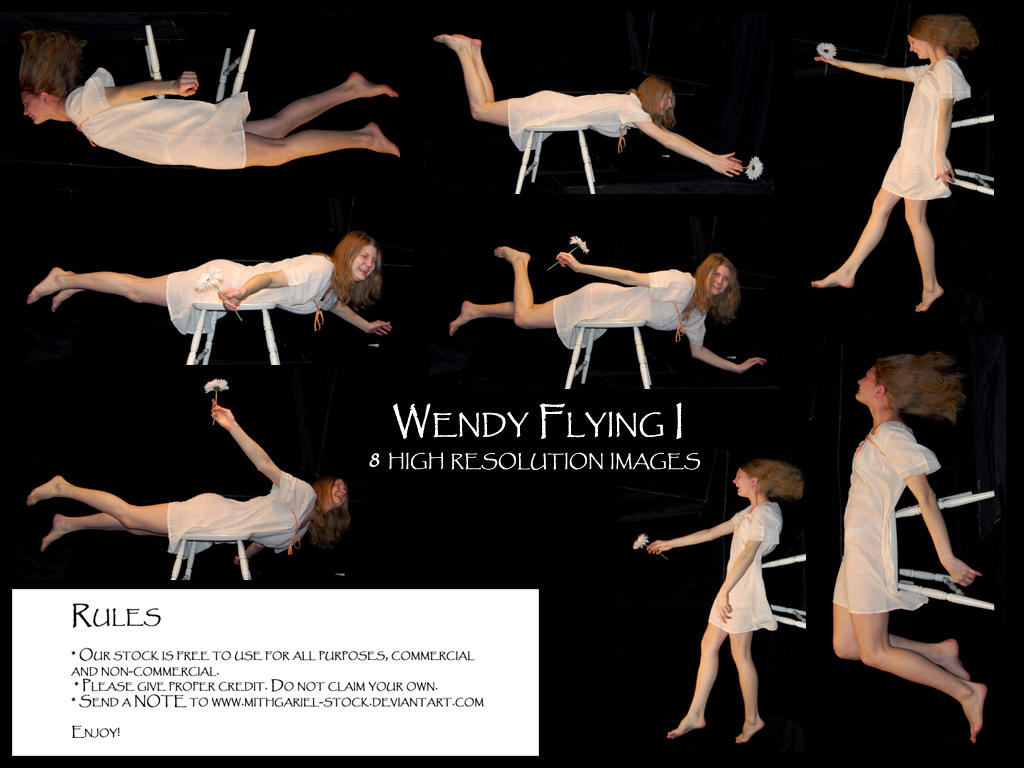 Wendy flying I by Mithgariel-stock