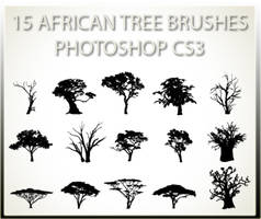 15 African Tree Brushes PSCS3