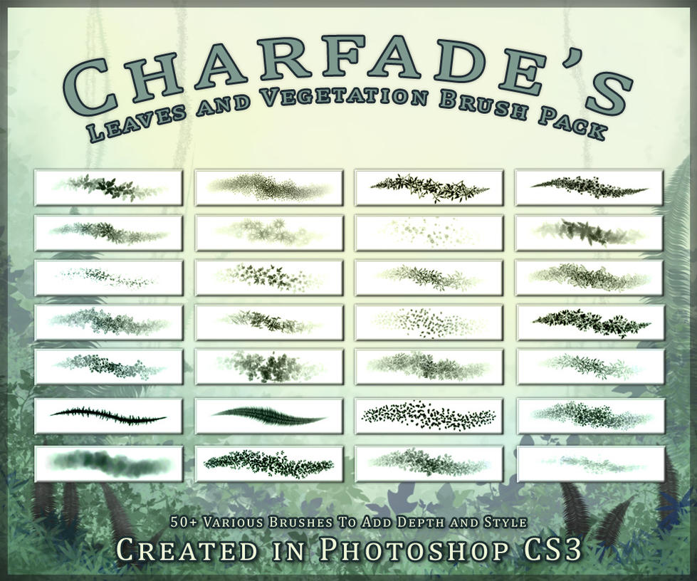 Leaves and Veggie Brush Pack by charfade