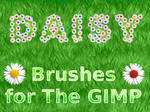 Daisy Brushes -for The GIMP