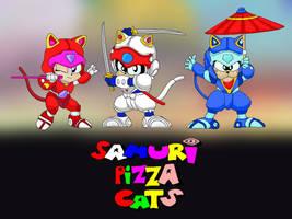 Samurai Pizza Cats Wallpaper by Trish-the-Stalker