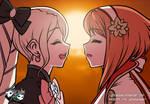 ANIMATION: Elise X Sakura Cute Kiss