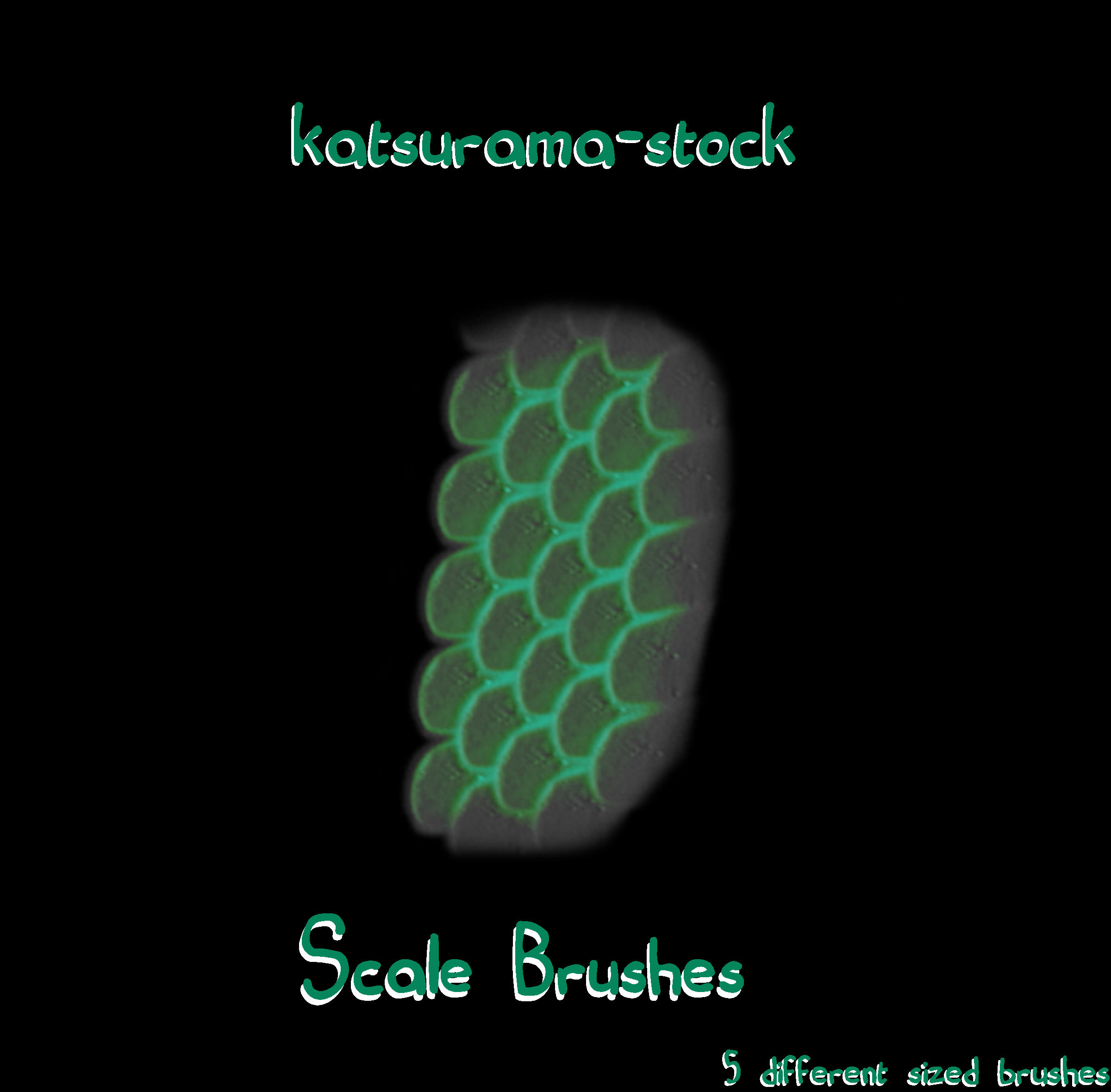 Scale Brushes by katsurama-stock