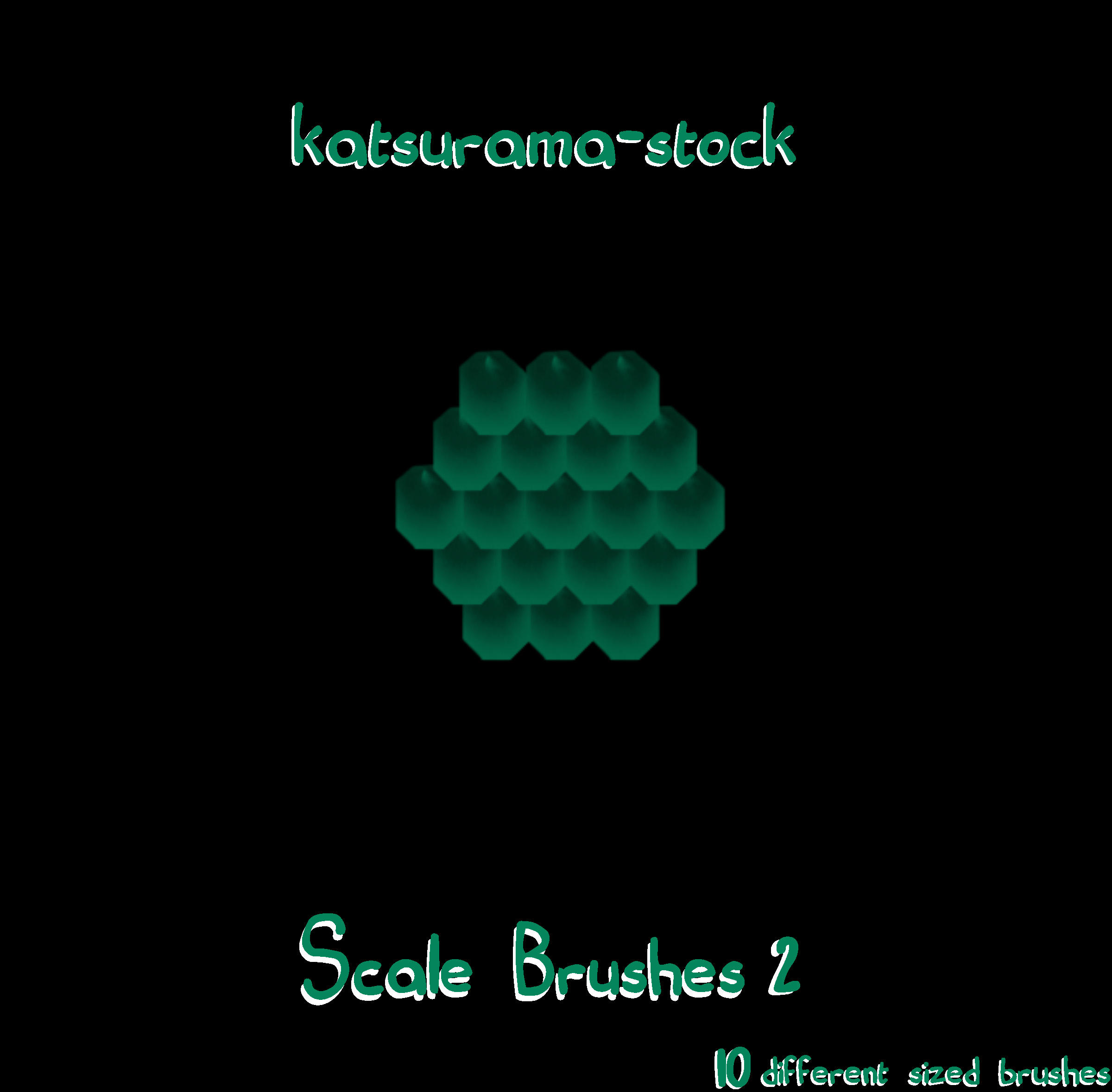 Scale Brushes 2 by katsurama-stock