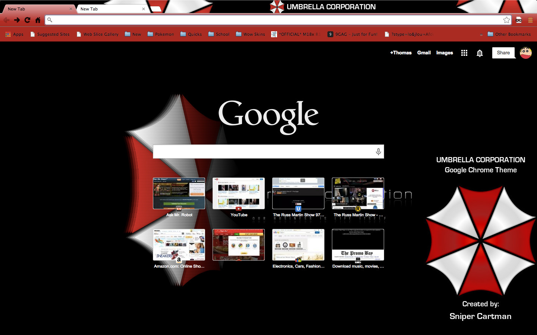 Google themes movies - Umbrella Corporation Google Chrome Theme By Snipercartman Umbrella Corporation Google Chrome Theme By Snipercartman