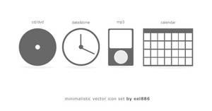 minimalistic icon set vector