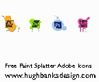 Paint Splatter Adobe CS6 Icons by ravinsilverlock