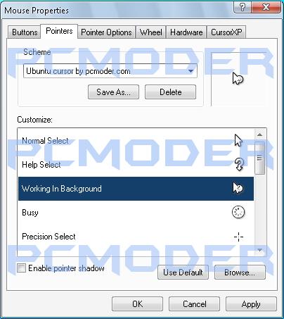 ubuntu cursor for windows xp by knowledgeorb on DeviantArt