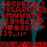 Super Mario Bros Font Brushes by Vampire-Maiden