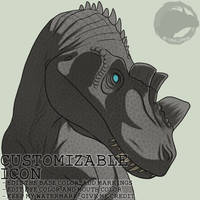 [F2U] Ceratosaurus - Simple Icon by NocturnalCarnage