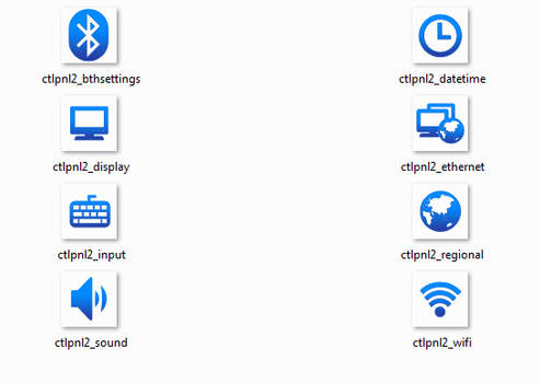 Some WinEMB 7 Compact Icons
