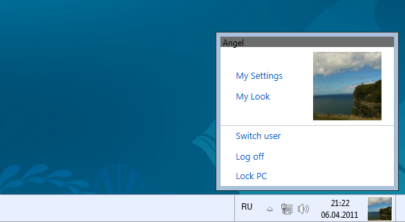 Taskbar UserTile by AngelWZR