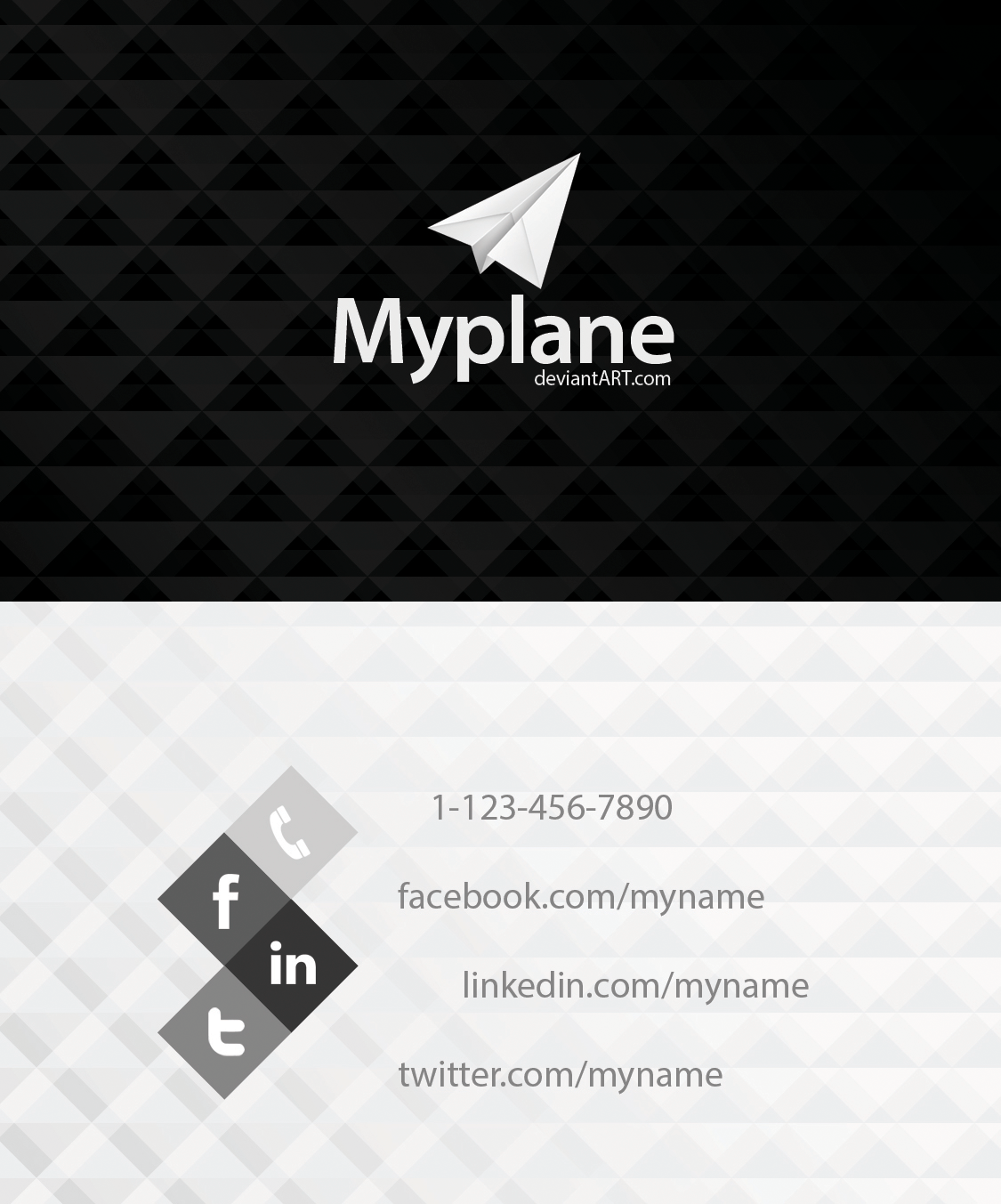 Black and White Business Card PSD by ShareGamer on DeviantArt
