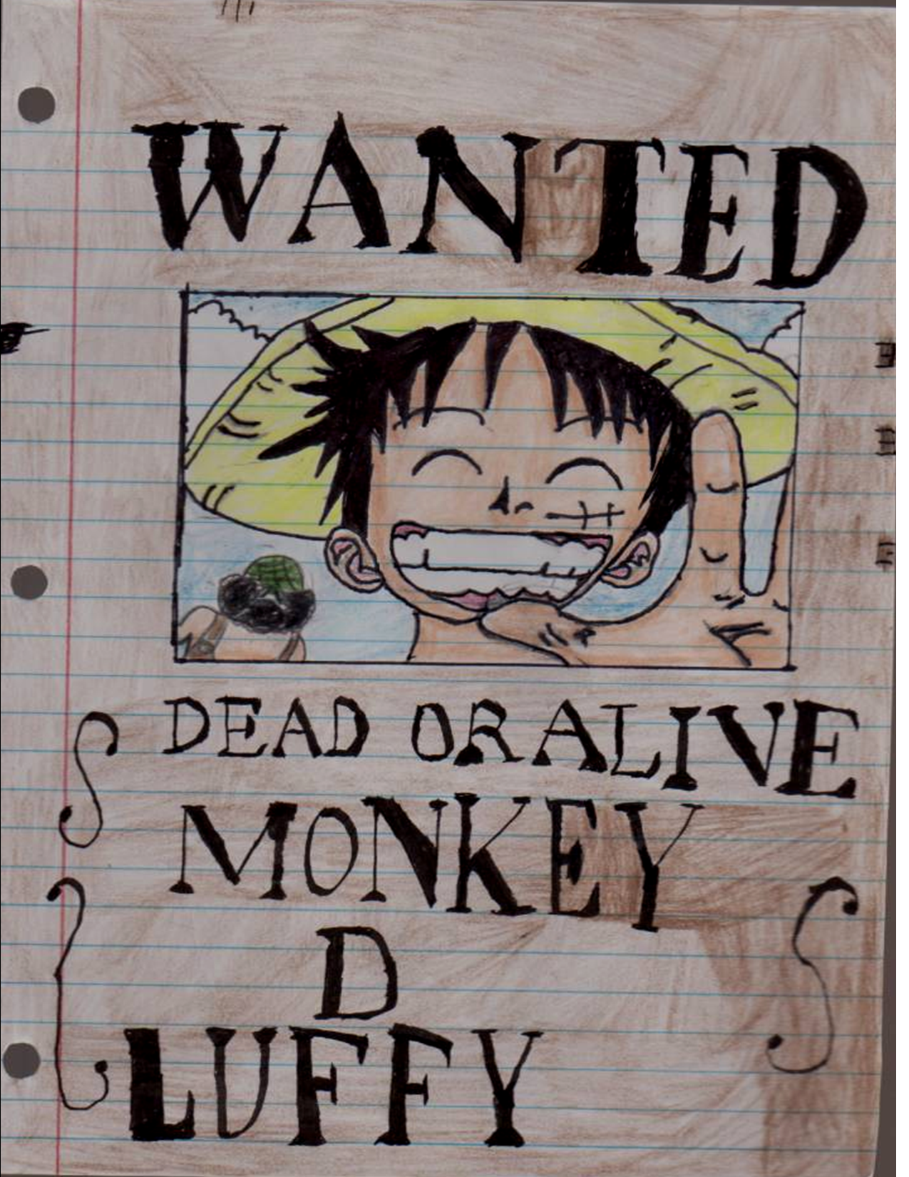 Luffy wanted poster by kakashiskywalker on deviantart - One piece luffy wanted ...