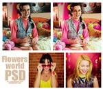 Flowers World psd