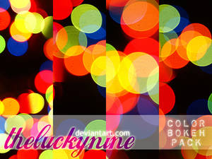 color bokeh textures pack