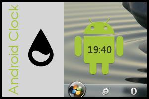 Android Rainmeter Clock by SierraDesign