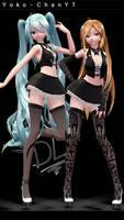 xX MMD Xx TDA Classic Bar Miku and Yoko + DL! by Yoko-ChanYT