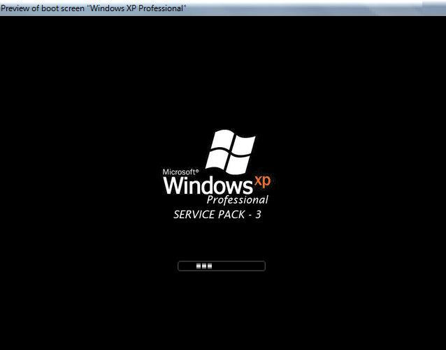 Windows XP-SP3 Bootscreen by tharunnamboothiri