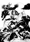 Eva vs Werewolves by TimRees