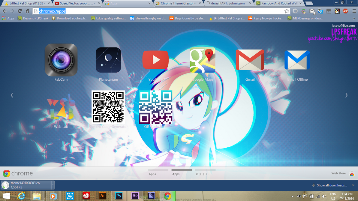 Gmail theme gone - Rainbow And Rooted Chrome Theme By Illumnious