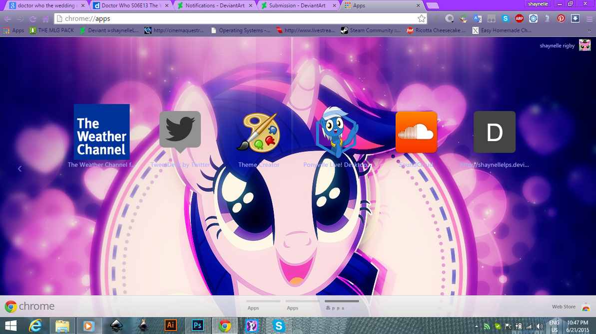Google themes doctor who - Sparkle Horse Out Chrome Theme By Illumnious