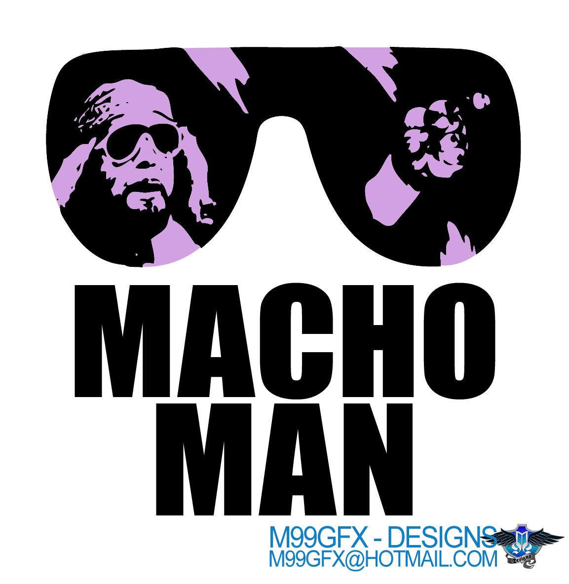 Macho Man Randy Savage 80's T Shirt Logo