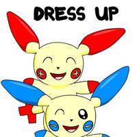 Plusle Minun Dress Up by pichu90