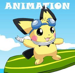 Surfing Pichu Animation by pichu90